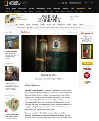 'Your wounds will be named silence' on the National Geographic Website
