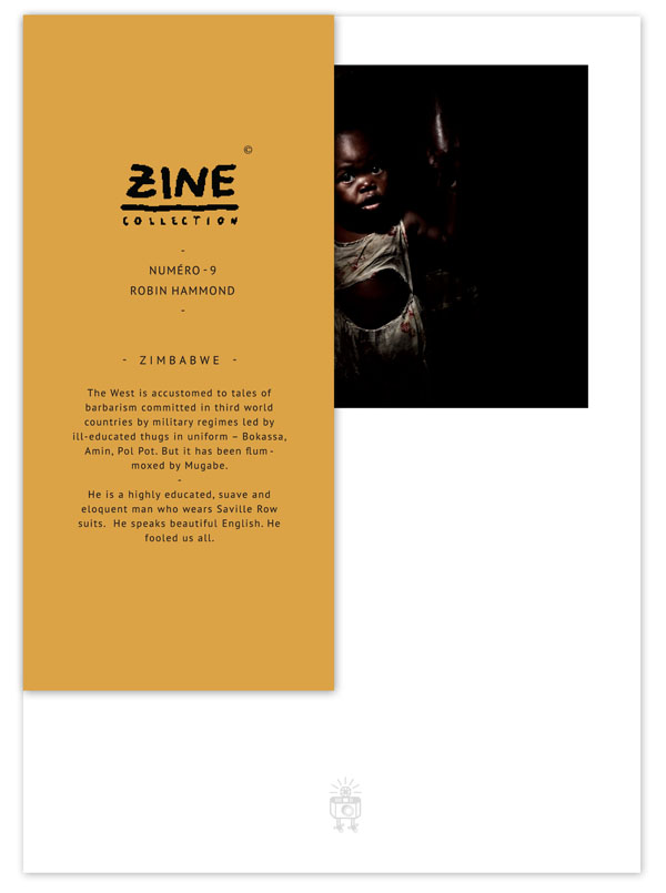 Zine n 9 - Zimbabwe - Robin Hammond by Editions Bessard